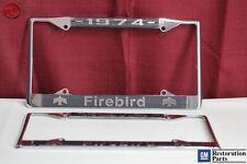 1974 GM License Pontiac Firebird Front Rear License Plate Tag Holder Frames New