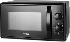 Tower T24034BLK Microwave, 5 Power Levels, 20 Litre, 700 W, Black
