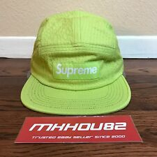 New Supreme Tonal Seersucker Camp 5-Panel Cap Hat Lime Spring Summer 2017 SS17