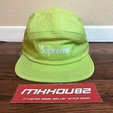 747930d5334 New Supreme Tonal Seersucker Camp 5-Panel Cap Hat Lime Spring Summer 2017  SS17