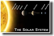 NEW POSTER SOLAR SYSTEM - educational teacher classroom science space astronomy