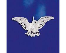 Sterling Silver Bald Eagle Pendant Hawk Bird Italian Charm Solid 925 Italy New