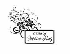 UNMOUNTED PERSONALIZED CREATED BY CUSTOM  RUBBER STAMPS C95
