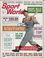 "MICKEY MANTLE PSA/DNA GRADED 10 GEM MINT SIGNED 1963 ""SPORTS WORLD"" MAGAZINE"