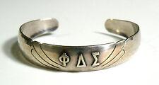 Estate Hammered Phi Delta Sigma Sorority Cuff Bracelet - Albright College