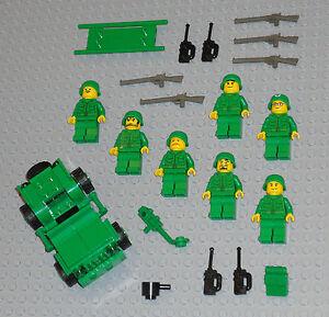 LEGO Minifigures 7 Army Men Guns World War 2 Soldiers Rifles Lego Minifigs Toys
