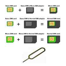 Nano SIM Card to Micro & Standard Adapter Conversion Set For iPhone 5 4S 4 Nexus