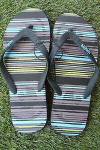 """Men's """"Adrenalin"""" Dark Stripe Thongs Sizes 10 - 13 Jandals"""