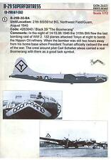 Print Scale Decals 1/72 BOEING B-29 SUPERFORTRESS American WWII Bomber