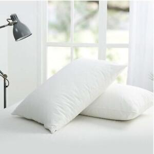 2 x Waterproof Pillow Case Protector Cover White Fits All Standard Sizes Soft