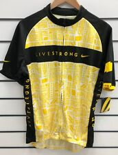 GENUINE NIKE LANCE ARMSTRONG LIVESTRONG CYCLING JERSEY XL YELLOW BNWT