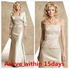 Champagne Mother Of The Bride Dresses With Jacket Dress For Wedding Cusotm Made