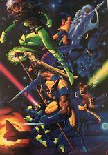 Vintage Poster X-Men Marvel Comics Cartoon Collage Pin-up Wolverine 1990's Xmen