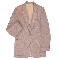 Men's Bespoke Tweed Wool Norfolk suede Hunting Patch Sport Coat Jacket Sz 40 R