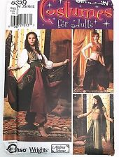Simplicity 5359 Belly Dancer Genie Harem Costume Pattern Size 6 8 10 12 FF UC