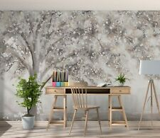 New Listing3D Watercolor Tree Zhua8134 Wallpaper Wall Murals Removable Self-adhesive Amy