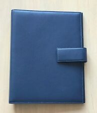 Bvlgari Blue Atlas Leather President Diary, New! MSRP $680
