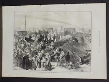 Illustrated London News Single-Page A3#64 Mar. 1871 Paris: Dealers in Provisions