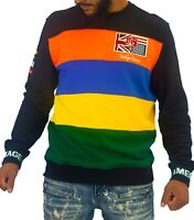 The Heritage by America Mens Sweater Black Size Large L Striped Flag $58 099