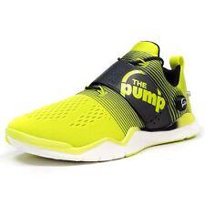 New Reebok Z-Pump Fusion Men's Training Shoes - Sz. 10 - Yellow/Gravel/Chalk