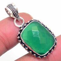 Green Onyx Ethnic Jewelry Handmade Pendant BP-648