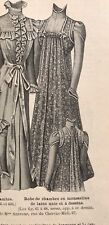 French MODE ILLUSTREE SEWING PATTERN April 8,1900 VISITING DRESS