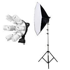 Studioset 7x45W Tageslicht Studiolicht Fotosstudio-Leuchte + Softbox + Stativ