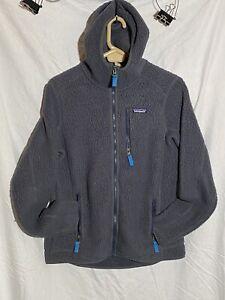 Patagonia Men's Gray Performance Better Sweater Fleece Hoodie Jacket Size 21x27