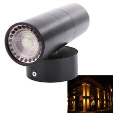 Black Aluminum Double Wall Light IP65 Up Down Outdoor Wall Fixture Lamp