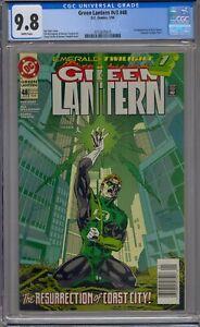 GREEN LANTERN V3 #48 CGC 9.8 1ST KYLE RAYNER EMERALD TWILIGHT NEWSSTAND