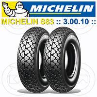Kit 2 Michelin S83 Bereifung Räder 3.00-10 42j Piaggio Vespa Pk 50 S (V5X2T)