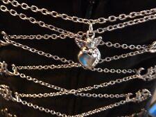 Miederkette, Gliederkette, Dirndlkette , Farbe Silber, 1,6 m lang, Engel u. Herz