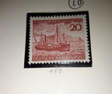 West F.R.G 1952 Rehabilitation of Heligoland mint no gum