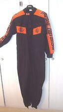 Racing Suit Harley Davidson Vintage 100% Baumwolle Medium Black Orange RARE ! HC