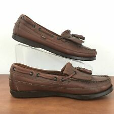 LEVI'S Men's Brown Leather Tassel Loafers Slip On Shoes Flexible Soles Size 8 M