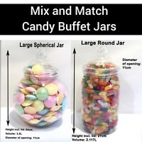 Large Plastic Sweet Jars DIY Candy Sweet Buffet Wedding Party**YOU CHOOSE**
