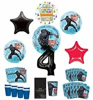 Black Panther Party Supplies 8 Guests 4th Birthday Balloon Bouquet Decorations