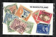 Basutoland 10 timbres différents