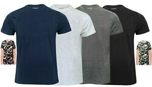 Mens Plain t shirts Cotton Crew Neck t-shirts Tee Top Regular Casual M-6XL