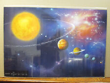 Vintage science space solar system 1986 poster 8629