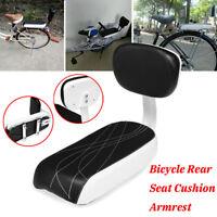 Bicycle Comfort Gel Rear Seat Cushion Armrest Footrest Bike Child Safety