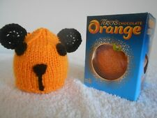 TERRYS CHOCOLATE ORANGE COVER x 1 SOOTY Inspired Yellow Hand Knit Novelty