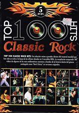"""TOP 100 HITS """"CLASSIC ROCK"""" [5 DVD'S] ROLLING STONES,METALLICA,JANIS JOPLIN,PINK"""