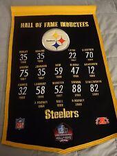 Pittsburgh Steelers Winning Streak Wool Hall Of Fame Inductee Pennant