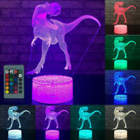 LED 3D Illuminated Lamp Optical Illusion Desk Night Light with Remote Control