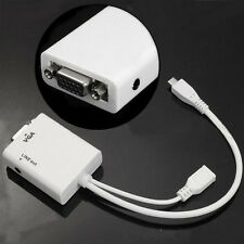 Salable Micro USB To VGA Audio MHL Adapter For Samsung Galaxy S4 SIV i9500 WH