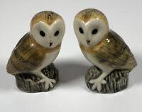 Vintage Novelty Owls Salt & Pepper Set Cute Pretty Collectable Kitchenalia