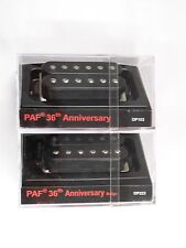 DiMarzio Regular Spaced PAF 36th Anniversary Neck & Bridge Set Black