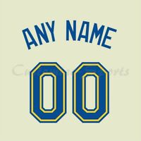 Baseball Seattle Mariners Customized Number Kit for Alternate Tan Color Jersey
