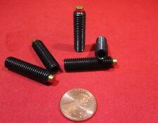 "Alloy Steel Set Screws, Brass Tip, 1/4-20 x 1"" Length, 20 Pieces"